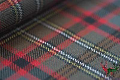 Heavy Weight Material 16oz Fabric Cunningham Modern Tartan 1 Metre