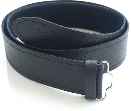 Kilt Belt - Black Leather