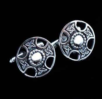 Highland Shield Silver Cufflinks