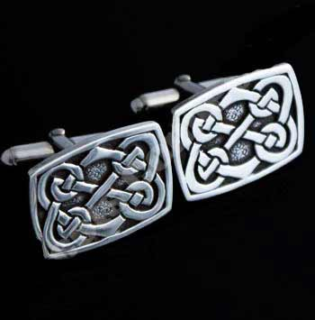 Celtic Knotwork Silver Cufflinks