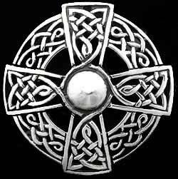 Iona Celtic Cross Brooch