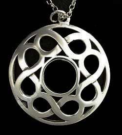 Eternal Knot Celtic Silver Pendant