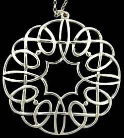 Celtic Swirl Silver Pendant