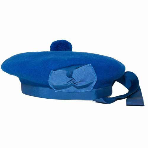 Standard Royal Blue Plain Balmoral Bonnet