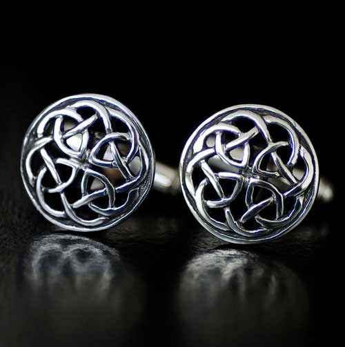 Celtic Interlace Silver Cufflinks