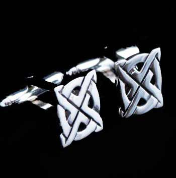 Scottish Saltire Silver Cufflinks