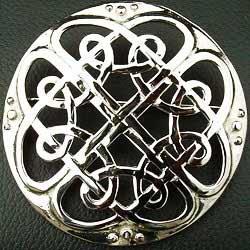 Plaid Brooch Celtic Interlace