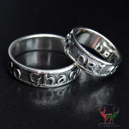 Scottish Love Ring Silver - My Love With You
