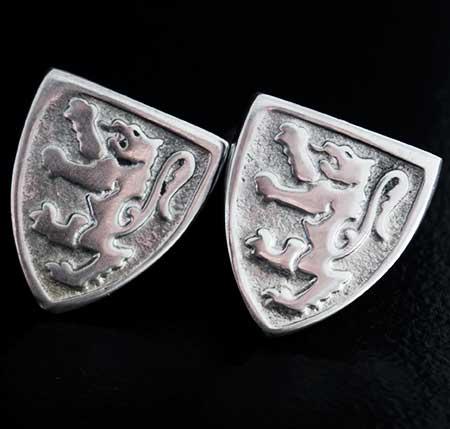 Lion Rampant Shield Cufflinks