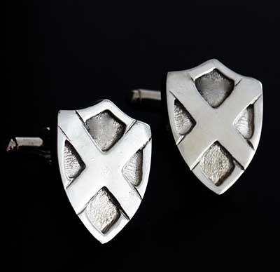 Saltire Shield Cufflinks