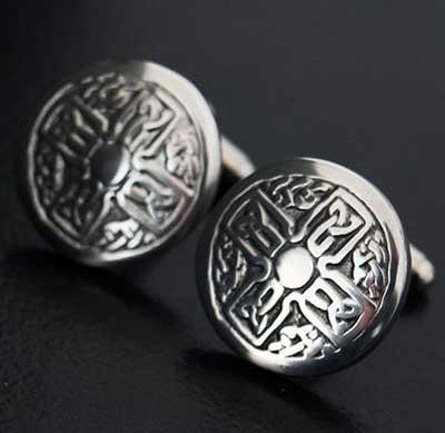 Celtic Interlace Cross Cufflinks