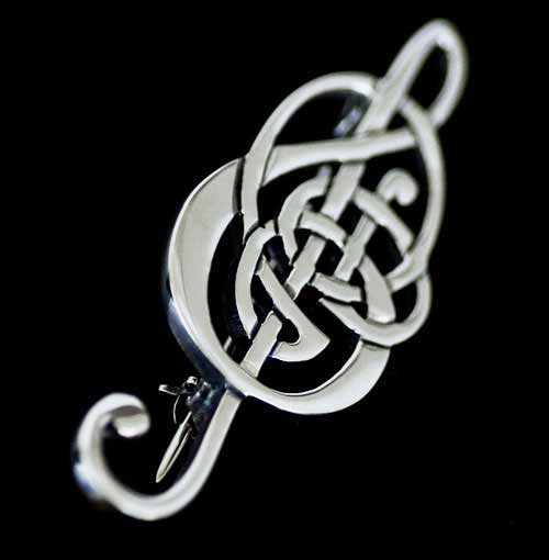 Celtic Treble Clef Interlace Brooch