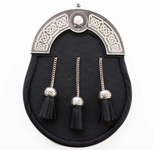 Black Leather Premier Celtic Dress Sporran