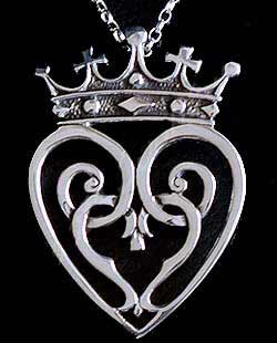 Scottish Love Luckenbooth Pendant Silver (2)