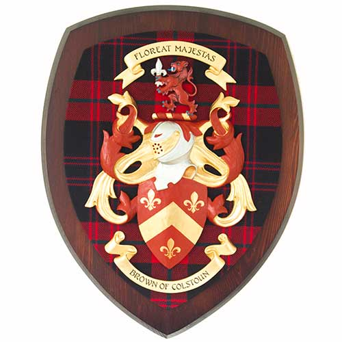 Brown Coat of Arms Crest