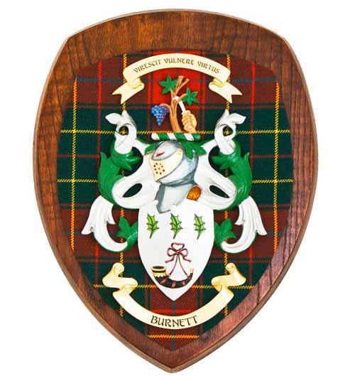 Coat of Arms Clan Wall Plaque - Dark