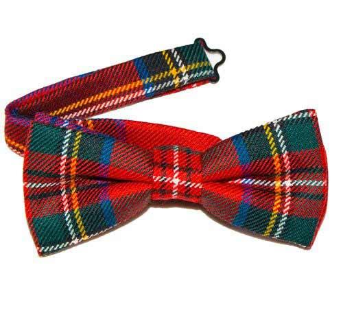 Tartan Bow Tie Pre-Tied - Fine Lightweight