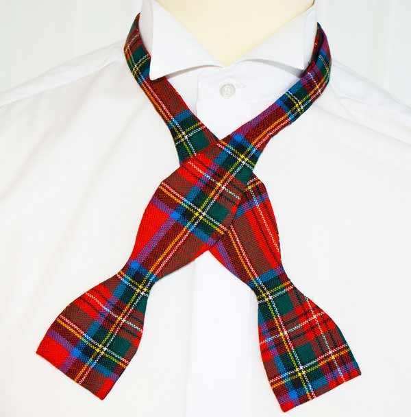 Royal Stewart Self Tie Bow on Shirt