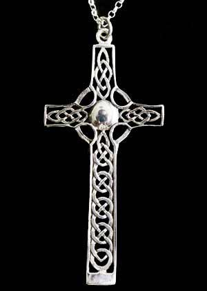 Celtic Cross Large Silver Pendant