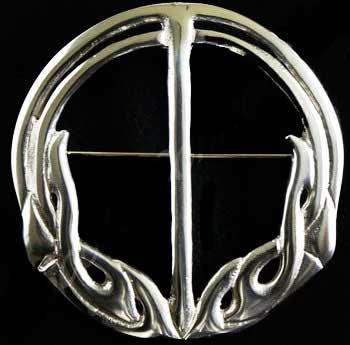Celtic Art Nouveau Sash Brooch