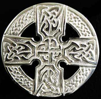 Celtic Cross Sash Brooch - Medium