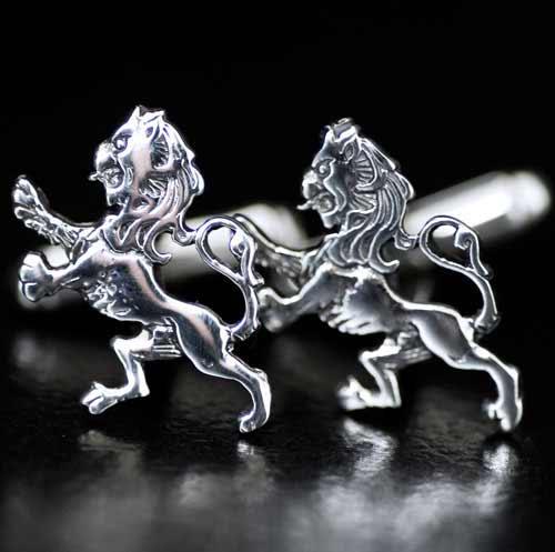 Lion Rampant Silver Cufflinks
