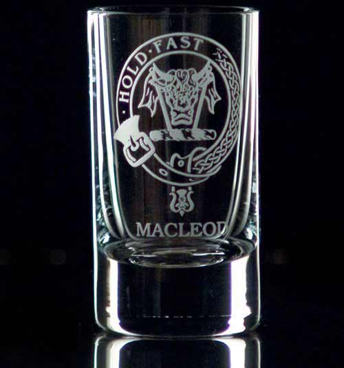 Clan Crest Shot Glass - Set of Two
