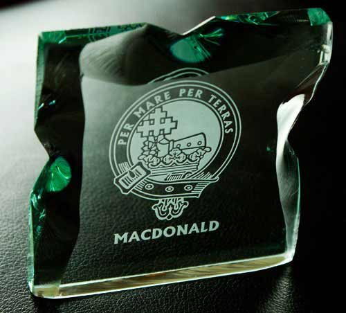 Clan Crested Ice Block Glass Sculpture