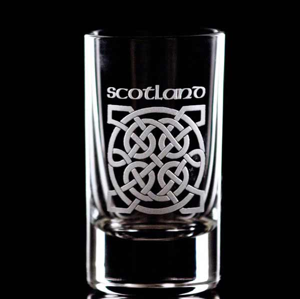 Celtic Scotland Shot Glass - Set of Two