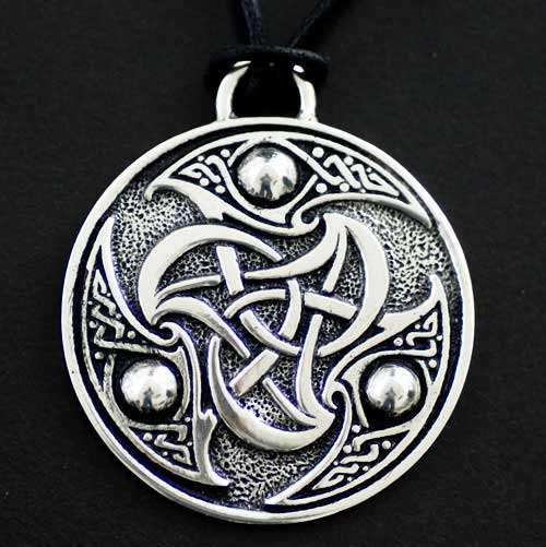 Celtic Triskele Pendant - Large