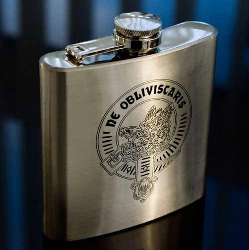 Clan Crest Hip Flask 6 oz.