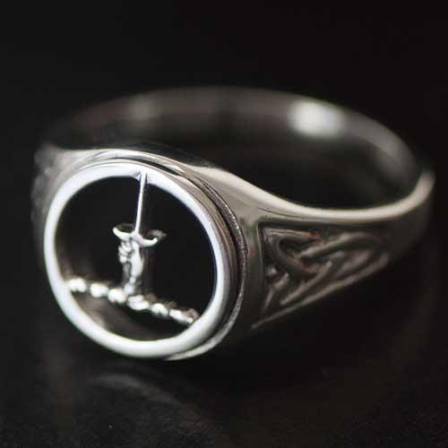 MacAllister Silver Mens Clan Crest Ring