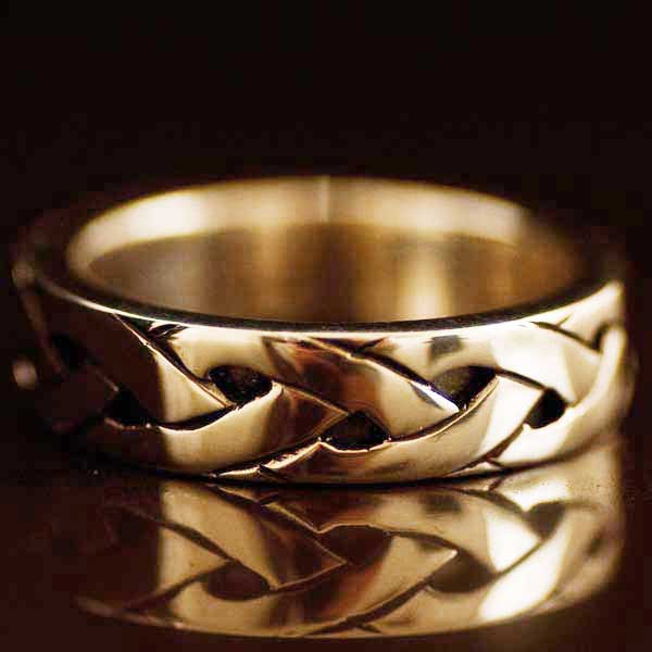 Endless Celtic Knot Gold Ring