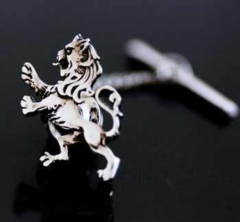 Lion Rampant Silver Tie Tack