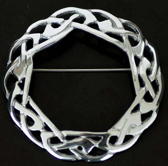 Celtic Weave Interlace Sash Brooch