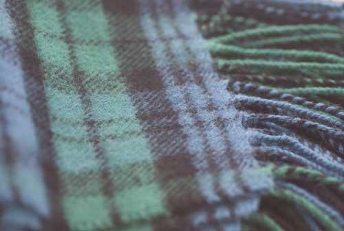 Close-up Campbell Tartan Scarf