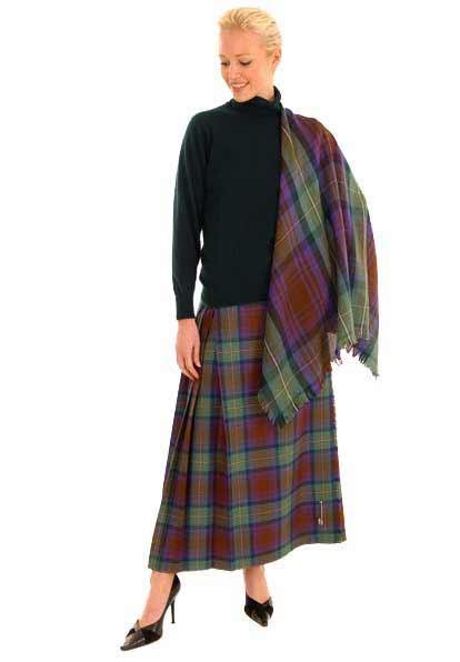 Formal Kilted Tartan Skirt