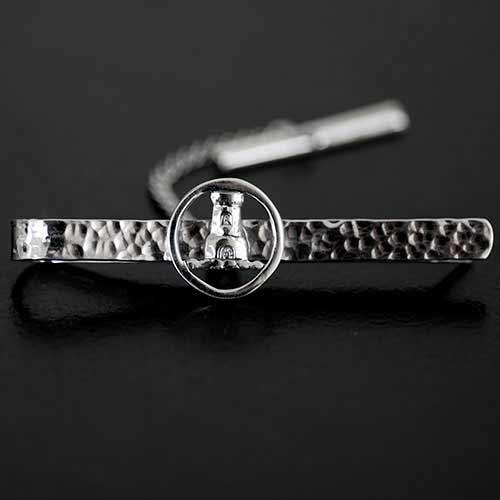 Silver Clan Crest Tie Clip