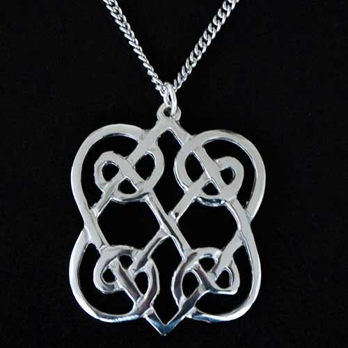 Celtic Lovehearts Pendant