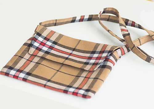 Thomson Camel Tartan Shoulder Bag