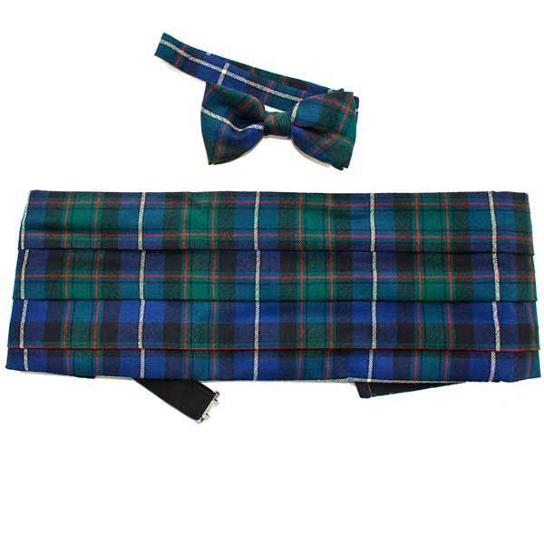 MacRae Hunting Tartan Cummerbund Bow Tie Set 34