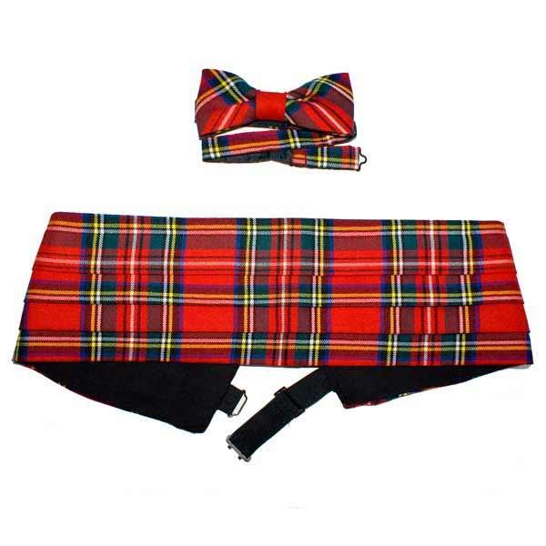 Royal Stewart Cummerbund Bow Tie Set 38