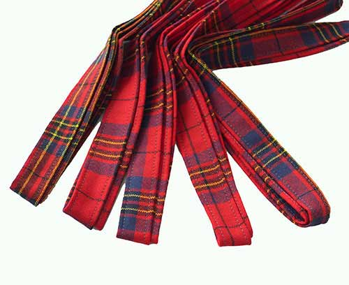 Leslie Red Tartan Ribbon Set