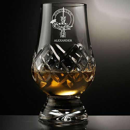 Clan Crest Hand Cut Crystal Glencairn Whisky Glass