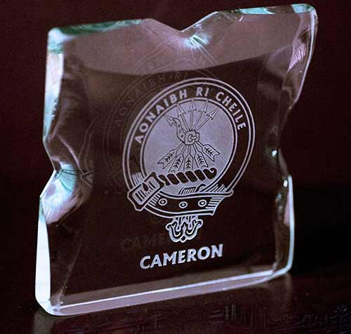 Cameron Clan Ice Block Glass Ornament