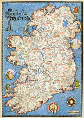 Clan Map of Ireland