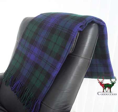 Black Watch Tartan Blanket on Armchair