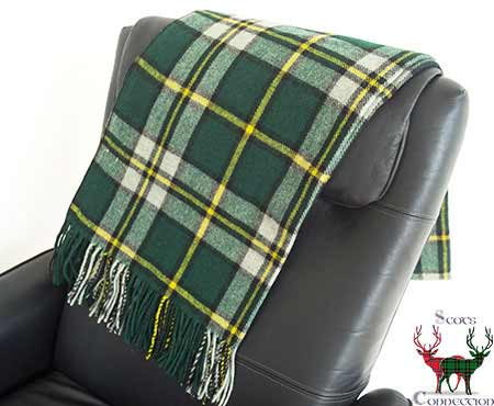Cape Breton Tartan Throw on Armchair