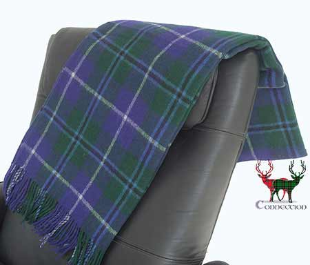 Douglas Tartan Throw on Armchair