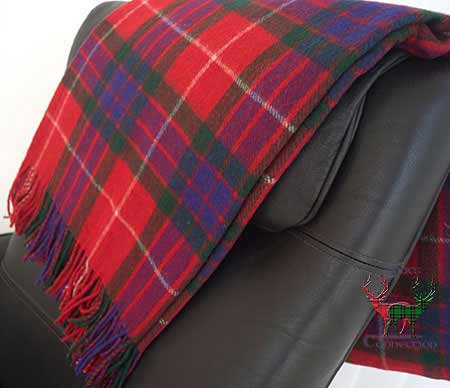 Fraser Tartan Throw on Armchair